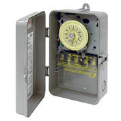 Intermatic T102P NEMA 3R - 24 Hour Dial Mechanical Time Switch, Plastic Case, 208-277V, SPST