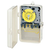 Intermatic T104PCD82 NEMA 3R - 24 Hour Dial Mechanical Time Switch In See-Thru Cover, 208-277V, DPST