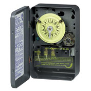 Intermatic T172 NEMA1-24 Hour Dial Time Switch W/Skipper And Optional Carryover, 208-277V, SPST