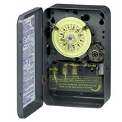 Intermatic T173 NEMA1-24 Hour Dial Time Switch W/Skipper And Optional Carryover, 125V, DPST