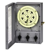 Intermatic T51211BC NEMA 1-Timing Control Center, 7 Day Dial w/Carryover, 120V, (2)SPDT Two Circuit