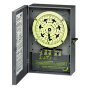 Intermatic T7401B NEMA1-7 Day Dial Time Switch, Separate Clock Motor And Circuit Terminals, 125V