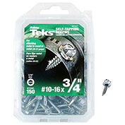 """ITW Teks® 21327 - Self-Tapping Screw #10 x 3/4"""" Hex Washer - Pkg of 150"""