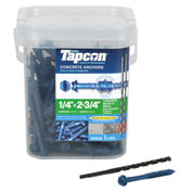 "ITW Tapcon Concrete Anchor - 1/4 x 2-3/4"" - Hex Washer Head - Pkg of 150 - 24530"
