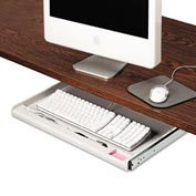 "Innovera® 53000 Under Desk Keyboard Drawer, 15"" Track Length, Light Gray"