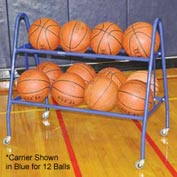 Jaypro Sports Deluxe Basketball Carrier- 18 Ball - Black