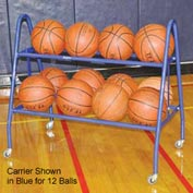 Jaypro Sports Deluxe Basketball Carrier- 18 Ball - Red