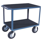 "Vinyl Matted Standard Handle Cart w/ 8"" Semi-Pneumatic Casters - 18 x 30"