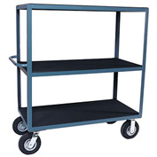 "Vinyl Matted Three Shelf Cart w/ 8"" Pneumatic Casters - 30 x 60"