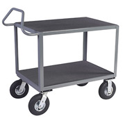 "Vinyl Matted Ergo Handle Cart w/ 5"" Poly Casters - 18 x 36"
