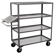 Jamco 4 Shelf Stock Truck with Writing Stand Handle DO348 30 x 48