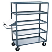 Jamco 5 Shelf Stock Truck with Writing Stand Handle EO260 24 x 60
