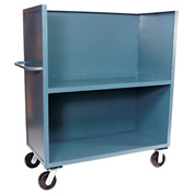 Jamco 3 Sided Solid Truck FB360 with 2 Shelves 30 x 60 3000 Lb. Capacity