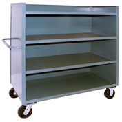 Jamco 3 Sided Solid Truck FD372 with 4 Shelves 30 x 72 3000 Lb. Capacity