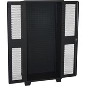 Jamco Bin Cabinet HM248-BL - Louvered Interior w/Shelf Rails, Clearview Door, No Bins 48x24x78 Black
