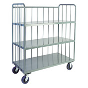 Jamco Sloped 3 Sided Rod Truck HS248 24 x 48 with 3 Shelves