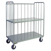 Jamco Sloped 3 Sided Rod Truck HT248 24 x 48 with 2 Shelves