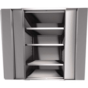 "Global™ Stainless Steel Cabinet KF148 - Assembled 48""W x 18""D x 61""H"