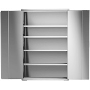 "Global&#8482 Stainless Steel Cabinet KG248 - Assembled 48""W x 24""D x 73""H"