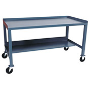 Mobile Steel Workbench - 30 x 60