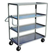 Jamco Ergonomic Handled 4 Shelf Stock Truck ND248 24 x 48