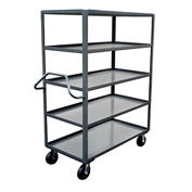 Jamco Ergonomic Handled 5 Shelf Stock Truck NE448 36 x 48
