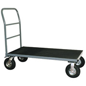 "Vinyl Matted Platform Truck w/ 5"" Poly Casters 18 x 48"