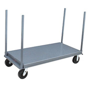 """Jamco Platform Truck with (4) 30"""" Stakes PD472 - 36 x 72 - 2000 Lb. Capacity"""