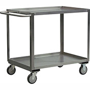 "Jamco Stainless Steel Cart XB348 S5 - 2 Shelf 54""L x 31""W, 5"" Casters Stainless Rigs"
