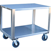 "Jamco Stainless Steel Cart YM348 U6 - 2 Shelf 49""L x 31""W, 5"" Casters Steel Rigs"