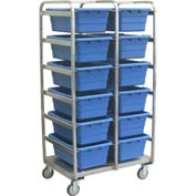 Jamco Stainless Steel 12 Tote Cart YQ236-S5-AS-NB - 26x36x72, Casters Stainless Steel Rigs, No Totes
