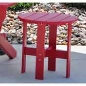 Jayhawk Plastics Traditional Adirondack Side Table, Red