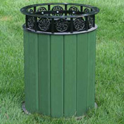 Jamestown Receptacle, Recycled Plastic, 12 Gal., Green
