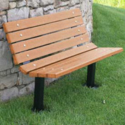 Contour Bench, Recycled Plastic, 4 ft, In Ground Mount, Cedar