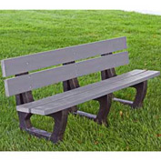 Petrie Bench, Recycled Plastic, 4 ft, Gray