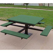 T-Table, Recycled Plastic, 4 ft, Green
