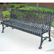 Blair Bench, Steel, 6 ft, Black