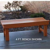 Garden Bench, Recycled Plastic, 6 ft, Cedar