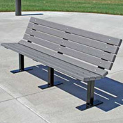 Contour Bench, Recycled Plastic, 6 ft, Gray