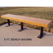Trailside Bench, Recycled Plastic, 8 ft, Cedar