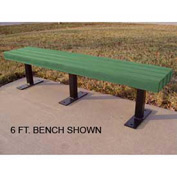 Trailside Bench, Recycled Plastic, 8 ft, Green