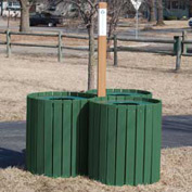 Recycling Center - Resinwood Slats Green 96 Gallon