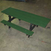A-Frame Table, Recycled Plastic, 6 ft, Green, ADA