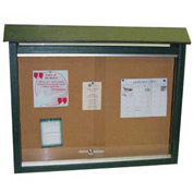 "Jayhawk Plastics Small Message Center, Recycled Plastic, One Side, No Posts, Green, 26""W x 20""H"