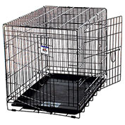 "Pet Lodge Black Double Door Wire Pet Crate 154703, 36""L X 24""W X 27""H, Large"