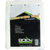 BOEN Fire Retardant Construction Tarp 10x10 Weave, 20' x 21' - CT-2021