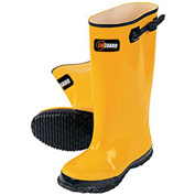 "Enguard Slush Boots, Rubber, 17"" Height, Yellow, Size 10, 1 Pair"