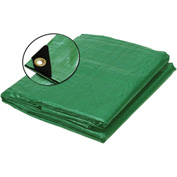 BOEN Heavy Duty Heavy Duty Tarp 12x12 Weave, 16' x 20' Green - GT-1620