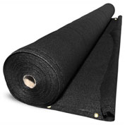 BOEN Privacy Netting W/Reinforced Grommets, 6' x 100', Black - PN-30059