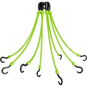 "The Perfect Bungee FE18-8 18"" Flex Web (8-Arm), Safety Green"